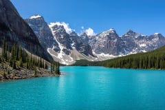 Moraine Lake, Banff National Park, Canada. Stock Images