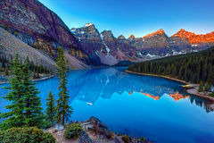 Moraine lake. In Banff National Park, Canaga,  Valley of the Ten Peaks Stock Photo