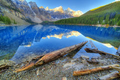 Moraine lake. In Banff National Park, Canaga,  Valley of the Ten Peaks Stock Photography
