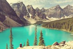 Moraine lake. Beautiful Moraine lake in Banff National park,Canada Royalty Free Stock Photo