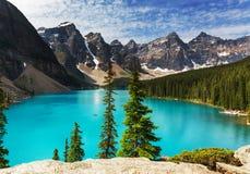 Moraine lake. Beautiful Moraine lake in Banff National park, Canada Stock Image