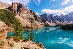 Moraine lake. Beautiful Moraine lake in Banff National park, Canada Royalty Free Stock Image