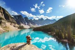 Moraine lake. Beautiful Moraine lake in Banff National park, Canada Stock Images
