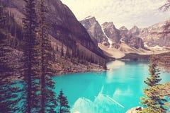 Moraine lake. Beautiful Moraine lake in Banff National park, Canada Royalty Free Stock Images