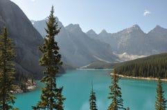 Moraine Lake Canada. Al Look at Beautiful Moraine Lake at Banff National Park Stock Photos