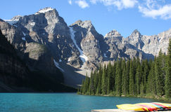 Moraine Lake Canada. Beautiful Moraine Lake Canadian Rockies, Banff National Park Royalty Free Stock Photo