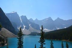 Moraine Lake Canada. Moraine lake in the summer, Banff national park Canada Stock Photos
