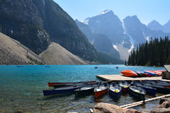 Moraine Lake Canada. Moraine lake in the summer, Banff national park Canada Royalty Free Stock Photos