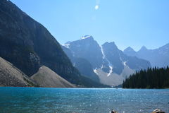 Moraine Lake Canada. Moraine lake in the summer, Banff national park Canada Royalty Free Stock Photography