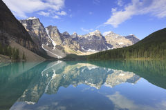 Moraine Lake in Canadian Rockies Royalty Free Stock Photo