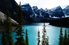 Moraine Lake in Canadian Rockies. Alberta,Canada royalty free stock photography