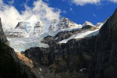Moraine Lake Glacier Stock Images