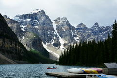Moraine Lake,Lake Louise,Alberta, Canada Stock Photography