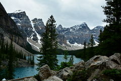 Moraine Lake,Lake Louise,Alberta,Canada. Royalty Free Stock Photos