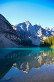 Moraine Lake in the morning. Moraine Lake in the early morning sunlight Royalty Free Stock Images