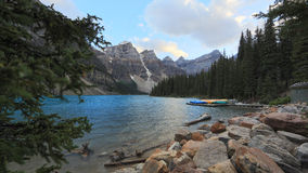 Moraine Lake Mountain Top View Royalty Free Stock Photo