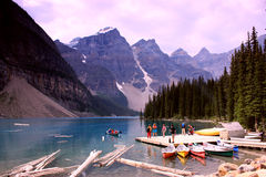 Moraine lake Stock Image
