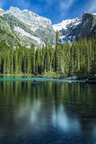 Moraine Lake Reflections Stock Photography