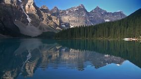 Moraine Lake with ripples stock video