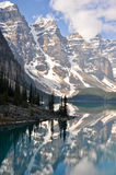 Moraine Lake, Rocky Mountains Royalty Free Stock Photo