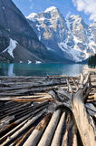 Moraine Lake, Rocky Mountains, Canada Stock Images