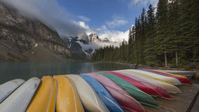 Moraine Lake storm coming. Royalty Free Stock Images