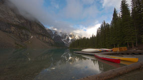 Moraine Lake storm coming. Stock Images