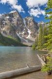 Moraine Lake and Ten Peaks Stock Photo