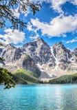 Moraine Lake and Ten Peaks Stock Photography