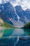 Moraine lake, three peaks Royalty Free Stock Image
