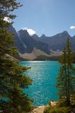 Moraine Lake View. View on beautiful Moraine Lake in Banff national park, Alberta, Canada Royalty Free Stock Image