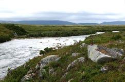 Moraine-Nebenfluss, Alaska Lizenzfreie Stockfotografie