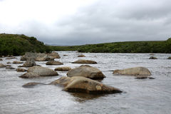 Moraine-Nebenfluss, Alaska Stockfoto