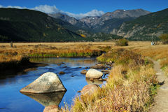 Moraine Park at Rocky Mountain National Park Stock Photo