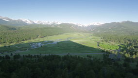 Moraine Park, Rocky Mountain National Park stock footage
