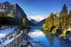 Moraine parque nacional de Lake Louise, Banff, Alberta Canada Fotografia de Stock