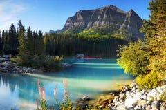 Moraine parque nacional de Lake Louise, Banff, Alberta Canada Foto de Stock