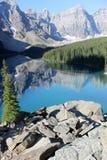 Moraine See Alberta Kanada Stockbild