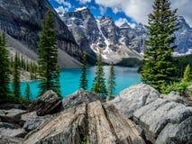Moraine See, Banff Stockbild