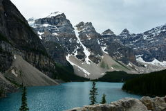 Moraine See, Lake Louise, Alberta, Kanada Stockfotos