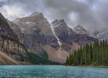 Moraine See in Nationalpark Alberta Kanada Banffs Stockfotos