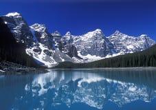 Moraine See, Tal von zehn Spitzen, Nationalpark Banffs, Alberta, Kanada Stockfoto