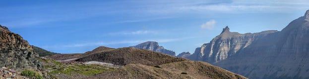 Moraine und Garten-Wand-Panorama Lizenzfreies Stockfoto