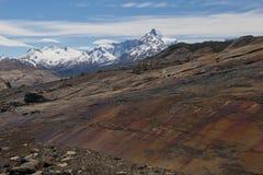 Moraine of the Upsala Glacier Stock Image
