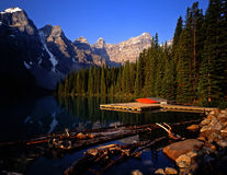 MoraineLake#1. Moraine Lake in Banff National Park located in Alberta Canada Royalty Free Stock Images