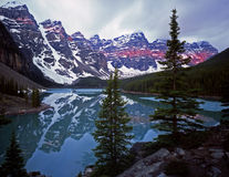 MoraineLake#6. Moraine Lake in Banff National Park located in Alberta, Canada Stock Photos