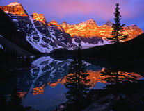 MoraineLake#7. Moraine Lake in Banff National Park located in Alberta, Canada Stock Photography