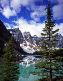 MoraineLake#8. Moraine Lake in Banff National Park located in Alberta, Canada Royalty Free Stock Image