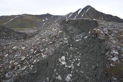 Moraines da geleira (Spitsbergen) Fotos de Stock
