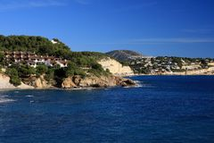 moraira Ισπανία ακτών της Αλικάντ&ep Στοκ φωτογραφία με δικαίωμα ελεύθερης χρήσης
